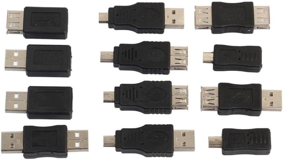 New Shipping Free heaven2017 12 Pcs Kits USB Male Mini Ada Changer Same day shipping to Female Micro