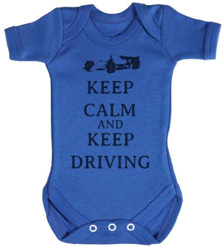 TRS - Calm Keep Driving Body bébé - cadeaux de bébé 12-18 Mois Bleu