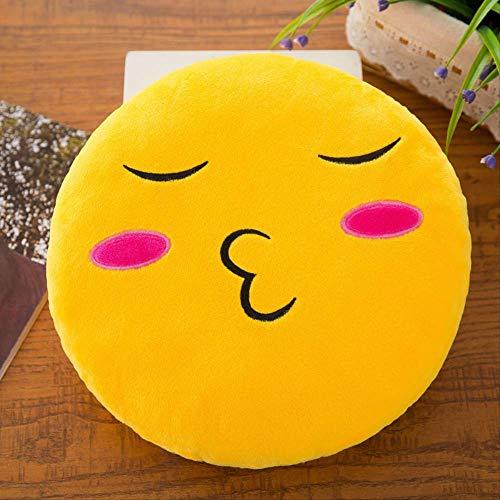 DOUFUZZ SNHPP Juguete de Felpa Emoji Emoji Bolsa Almohada 61 Día de los niños Regalo Actividad pequeño Regalo 32cm (extraíble) Beso