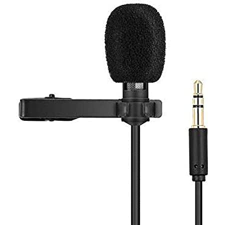 Generic 3.5mm Mini Lavalier Digital Noise Cancellation Clip Collar Mic Condenser For Voice Recording, Lapel Mic Mobile, Pc, Laptop, Android Smartphones, Dslr Camera   Youtube Video   Interviews   Lectures   News   Travel Videos Mike for Mobile(Black)