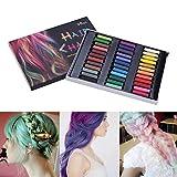 36 couleurs Craie Colorant des Cheveux Temporaire Crayons de Coloration des Cheveux Lavables et Non Toxiques pour des Enfants et des Adolescents (36 Couleurs)