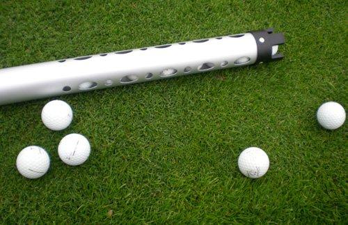 PGA Pro Edle Aluminium Ballsammel Röhre + 23 Golfbälle Ball Tube (1 x Aluminium Ballsammel Röhre + 23 Golfbälle)