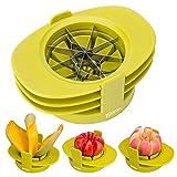 Bibetter Apple en forme de poire évider tomates Cutter 4en 1multifonctionnel Fruit Slicers Ensemble ustensile de cuisine