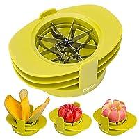 Bibetter Apple Pear Corer Affettatrice per pomodori 4in1 Affettatrice Multifunzione per Frutta Set attrezzo da Cucina, Sbucciatori e tagliafrutta Tagliafrutta
