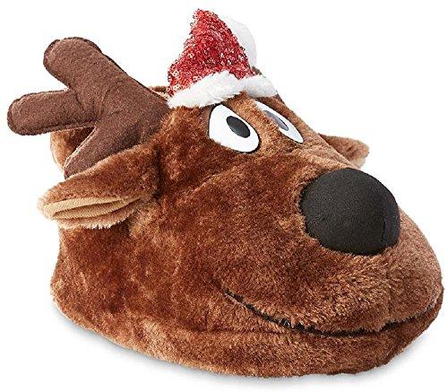 Joe Boxer Women's Christmas Reindeer Slippers (9-10 B(M) US, Brown/Black)