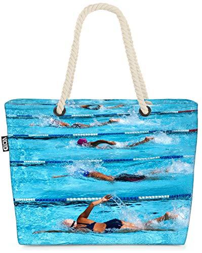 VOID Schwimmen Wettkampf Strandtasche Shopper 58x38x16cm 23L XXL Einkaufstasche Tasche Reisetasche Beach Bag