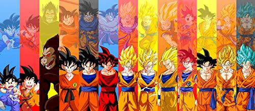 Desconocido Poster Goku Dragon Ball Todas Sus Fases All Stages Ultra Instict Alta RESOLUCION (100, 45)