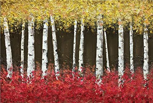 Árbol abstracto pintura al óleo sobre lienzo luz paisaje