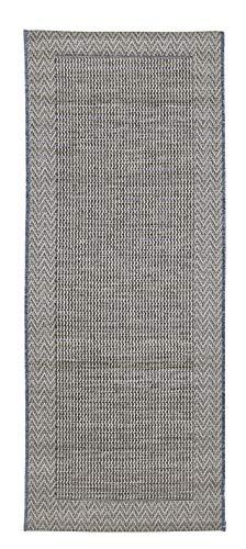 andiamo Alfombra Tejida por Clyde sin Pelo. Cenefa Beige y Antracita, B086F57BL5, 80 x 200 cm
