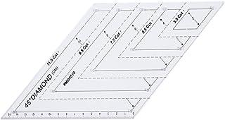 Régua quadrada para quilting da Yardwe, régua de diamante de 45 graus, régua de patchwork, acessórios de costura de modelo...