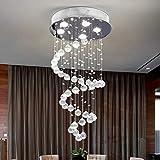 Modern Crystal Chandelier Rain Drop Lighting Fixture (5 Lights)