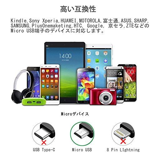 BigBlue Micro USB Kabel Silikon (2-Pack, 15cm) Android Smartphone Ladekabel, Soft Sync Schnellladekabel für Samsung, HTC, Nokia, Nexus, Sony und weitere(schwarz+weiß), MEHRWEG