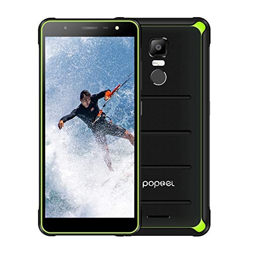 POPTEL P10 Rugged Cell Phones Unlocked, IP68 Waterproof Smartphones with 4G/LTE, Octa Core, 5.5inch 4GB+64GB, Dual Sim Waterproof Camera Rugged Smartphones (Blank Green)
