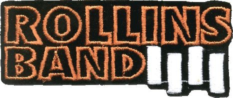 Rollins Band Logo Iron Sew On Patch / Applique