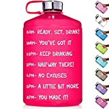HydroMATE 1 Gallon Motivational Water Bottle with Time Marker Large...