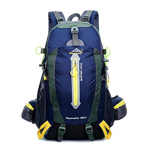 YUMOMO 40L impermeabile Zaino Escursionismo campeggio di corsa esterna zaino Sport Pack alpinismo arrampicata zaino Bag (blu scuro)
