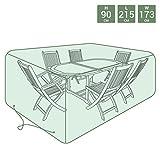 Charles Bentley Lona Jardín Cubrir Set Muebles en Verde Ojales de Aluminio Cuerda Con Palanca - Grande