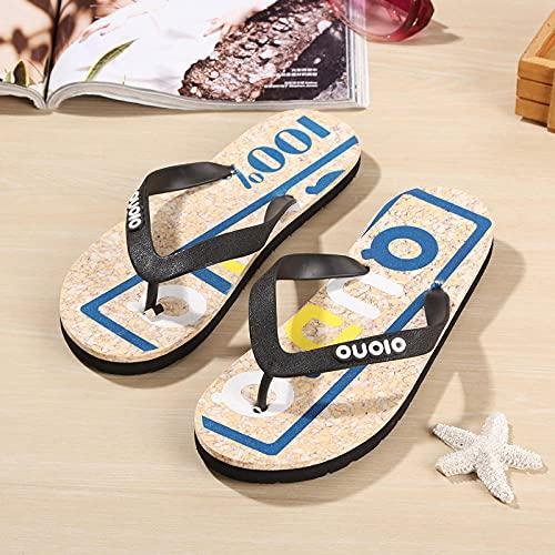Yumanluo Hombre Verano Zapatillas Flip Flops Sandal Zapatos de Playa y Piscina,Chanclas de EVA-A_40