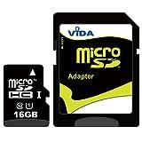 Vida IT 16GB Micro SDHC Scheda di Memoria per Samsung Galaxy Ace S2 S3 S4 S5 S7 Mini Edge J7 J2 J5 J3 A5 J1 Note 7 3 4 Cellulare Tablet PC - Garanzia a vita limitata - con Adattatore SD