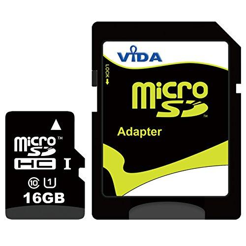 Vida IT Nouva 16GB Micro SDHC Scheda di Memoria per Il Cellulare Sony - Xperia Ion LTE - Xperia J - Xperia L - Xperia LT29i Hayabusa Tablet PCS - Garanzia a Vita Limitata - con Adattatore SD