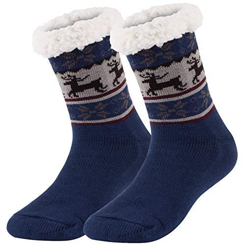 Ferocity Hombre Calcetines térmicos ricos en algodón para resbalón para el invierno Modelo 7 [033]