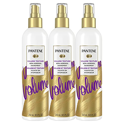 Pantene Hairspray Non-aerosol, Volume Lasting Hold, Pro-V, Body & Softness Texturizing, 8.5 fl oz, Triple Pack