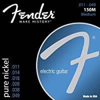 Fender エレキギター弦 Original 150 Guitar Strings, Pure Nickel Wound, Ball End, 150M .011-.049