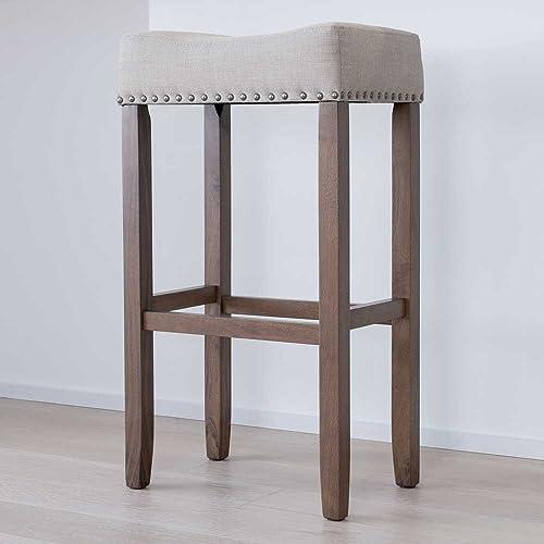 Surprising Rustic Bar Stools Set Of 2 Amazon Com Ncnpc Chair Design For Home Ncnpcorg