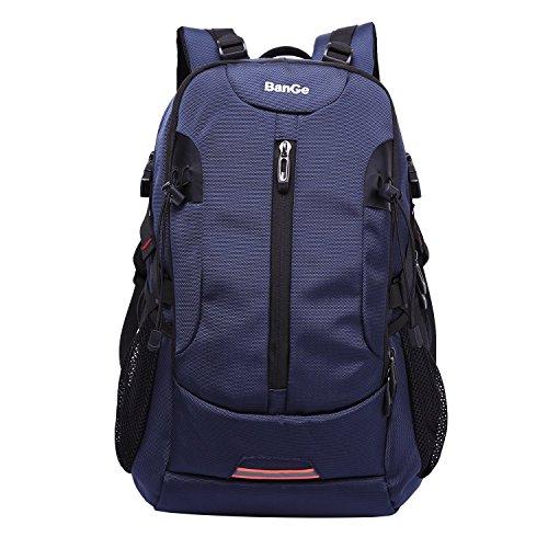 Laptop Rucksack Blau BanGe Wasserdicht Laptop Rucksack 17 Zoll Business Backpack Rucksäcke Multifunktionsrucksack Schwarz