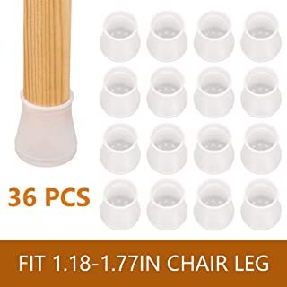 Chair Leg Floor Protectors, 36 PCS Silicon Furniture Pads, Anti-Slip Bottom Round Table Feet Pad Floor Protector, Prevents Scratches and Noise Without Leaving Marks