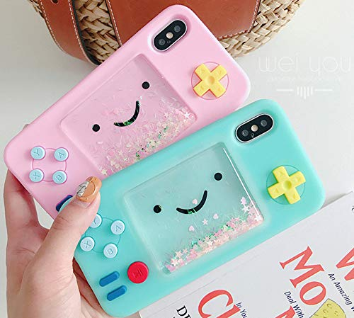 Unnfiko Squishy 3d Cartoon Game Case Compatible With Iphone 7 Iphone 8 Creative Liquid Stars Funny Play Case Soft Rubber Protective Cover For Girls Women Blue