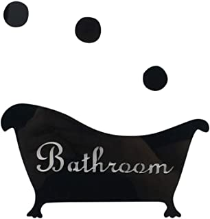 Jaromepower 3D Mirror Sticker Funny Door Entrance Sign Kids Men Women Bathroom DIY Wall,Wall Art for Living Room House Bedroom Toilet Kidroom Office Home Babyroom Decoration (16.5x9.5cm, A)