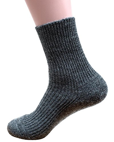Socken mit Plüschsohle, Hirsch Natur, 100prozent Wolle (kbA)- Gr. 40/41, Grau