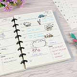 Eagle Discbound - Fogli per pianificazione progetti Junior, per quaderni a 8 fori, 30 fogli, 20 x 15,5 cm (agenda settimanale)