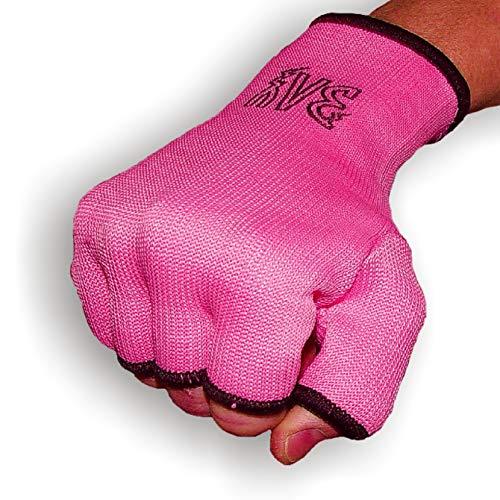 BAY® Schlupfbandagen Größe S, pink/rosa, Faustbandagen, elastische Innenhandschuhe, Handbandagen, Boxbandagen, Box-Bandagen, 1 Paar