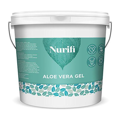 1KG Reines Aloe Vera Gel – von Nurifi - Veganer-freundlich - Keine Duftstoffe/Parabene - Nicht fettend & geruchlos - Natürliche Feuchtigkeitscreme für Haut & Haar - Keine Tierversuche