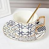 Juego de taza de café de porcelana de hueso para oficina en casa, taza de leche de cerámica, plato de regalo