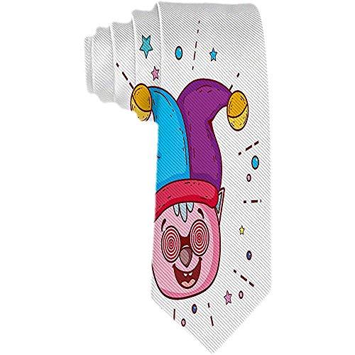 Corbata con estampado de animales para hombre Corbata clásica Tejido jacquard Cerdo Gafas locas y sombrero Joker Tonto Día Corbatas