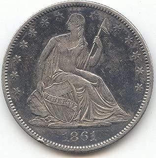 1861 O Seated Liberty Half Dollar Choice Extra Fine Details