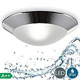 B.K.Licht plafonnier LED salle de bain Ø 310mm, applique salle de bain, éclairage...