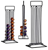 TIENDA EURASIA® Dispensador de Cápsulas Nespresso/Dolce Gusto - Capacidad para 36 Cápsulas - Fabricado en Acero Negro Mate (Nespresso 10 x 37,5 x 15,5 cm)