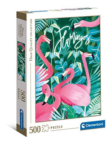 Clementoni- Fantastic Animals – Flamencos Rosas – 500 Piezas – Puzle Adulto – Fabricado en Italia (35101)