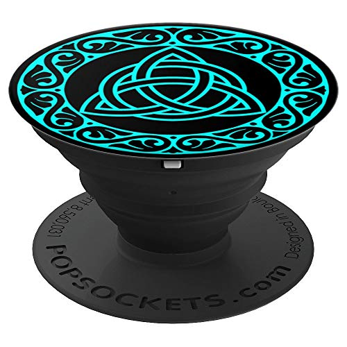 Teal Celtic Triquetra Knot PopSockets Grip and Stand for Phones and Tablets