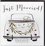Belly Button Designs Glückwunschkarte zur Hochzeit mit Kristallen, Prägung und Folienauflage in Silber BB094