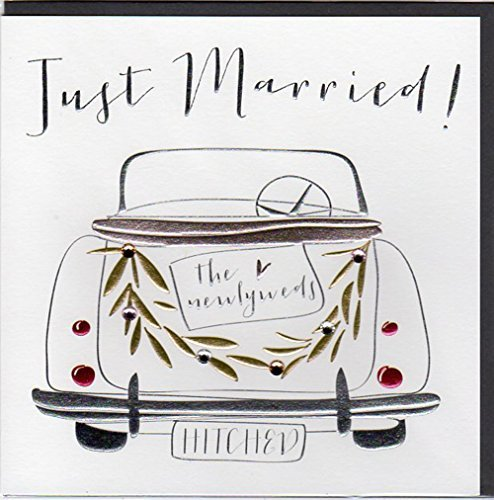 -Belly bouton designs Carte de mariage moderne dessus ouvert avec strass Motif voiture