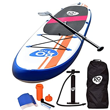 Goplus 10' Inflatable  Stand Up Paddle Board Package w/ Fin Adjustable Paddle Pump Kit Carry Backpack, 6  Thick