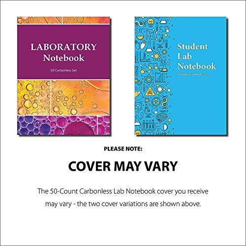 Student Lab Notebook (50 duplicate page sets): perforated carbonless sheets with smooth coil spiral binding