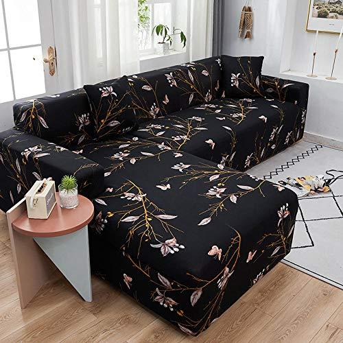Funda elástica para sofá de 1 plaza, fundas de sofá elásticas de poliéster y licra, universal, ajustable, protector de muebles, fundas antideslizantes para muebles, color negro, rosa