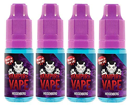 Vampire Vape E-Liquid 4x10ml - Heisenberg - Probierset für E-Zigaretten und E-Shishas - 0mg (ohne Nikotin) - Made in UK