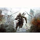 FENGZI Assassin'S Creed III Connor Jigsaw Puzzles 300/500/1000/1500 Piezas para Adultos Adolescentes niños Divertidos Juguetes Regalos (Size : 300Pieces)